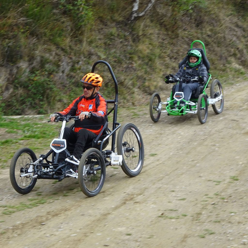 Quadrix all-terrain wheelchair sports experience for people with reduced mobility