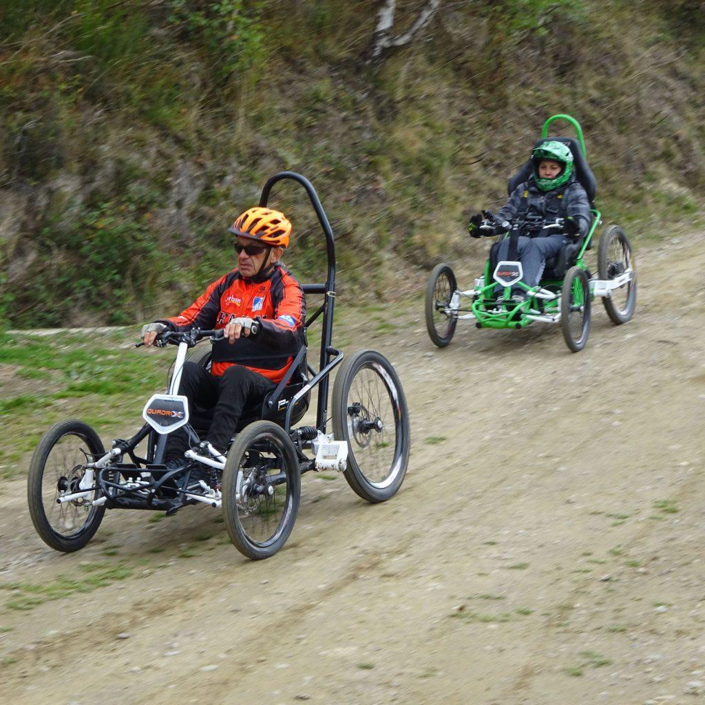Quadrix-Sporterlebnis Geländerollstuhl für Menschen mit eingeschränkter Mobilität