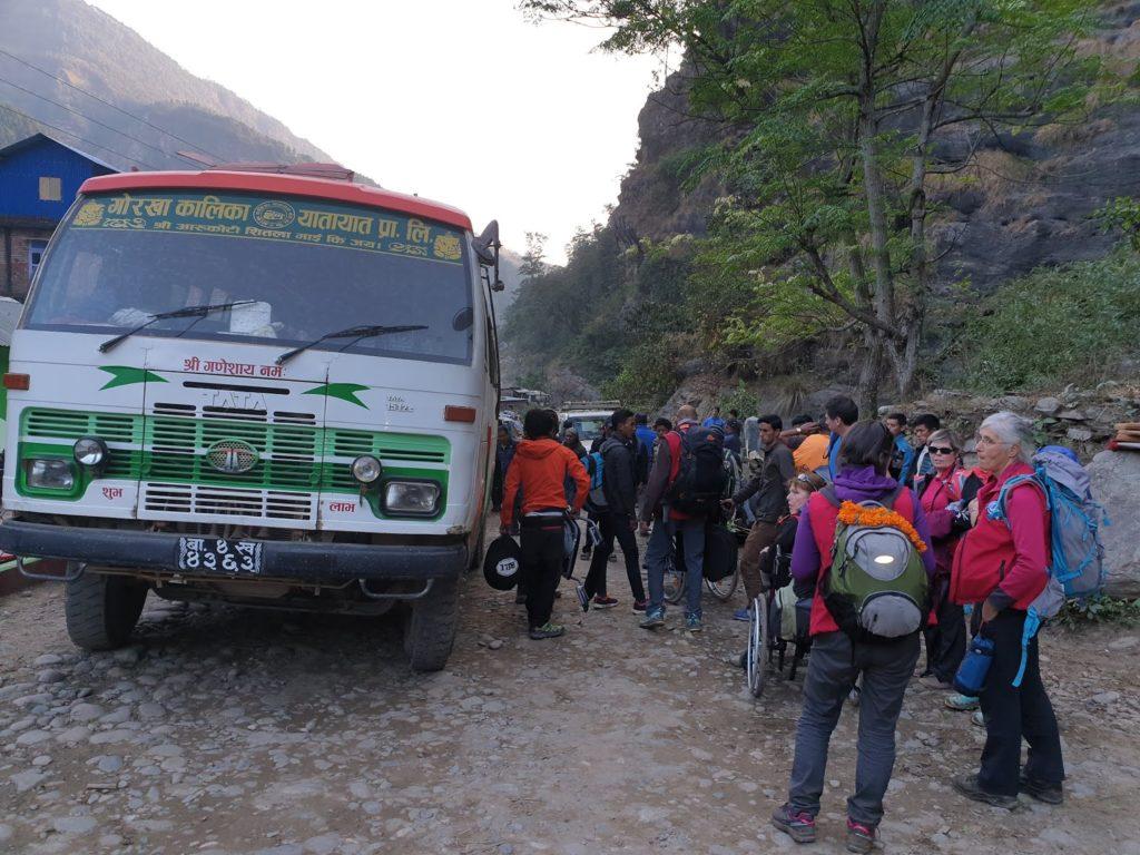 trek au népal en quadrix