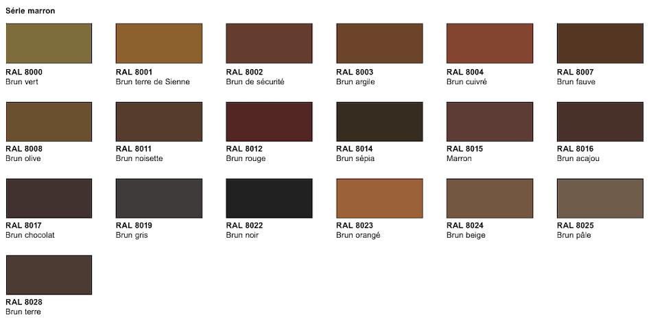 nuancier série marron